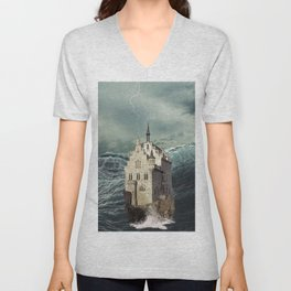 Castle in the sea 2 Unisex V-Neck