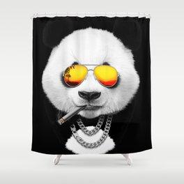 Cool Summer Panda Shower Curtain