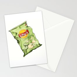 Lime Flavoured Chips Stationery Cards
