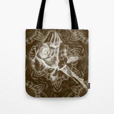 Rose infrared in brown Tote Bag