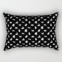 White Kittens Rectangular Pillow