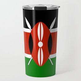 National flag of Kenya - Authentic version, to scale and color Travel Mug
