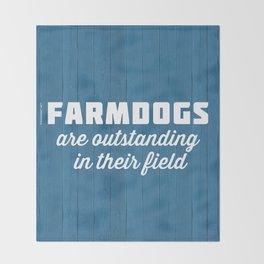 Outstanding Farmdogs Throw Blanket