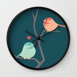 Lovebirds Three Wall Clock