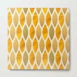 Golden Scales Metal Print