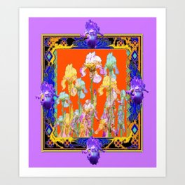 Lilac Purple Color Cumin Iris Garden Art Art Print