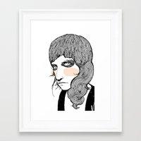 plain Framed Art Prints featuring Plain Patti by Le Butthead