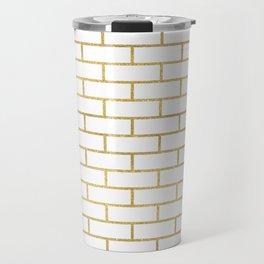 Gold Subway Tiles Travel Mug
