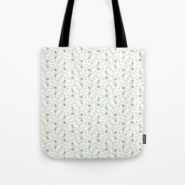 Flowers, Leaves, Swirls - Red White Blue Yellow Tote Bag