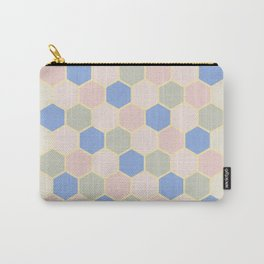 Pastel Hexagons Carry-All Pouch