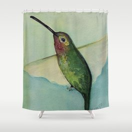 Happy Hummer Shower Curtain