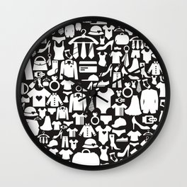 Background clothes Wall Clock