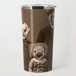 Creepy Clown Family Halloween Travel Mug