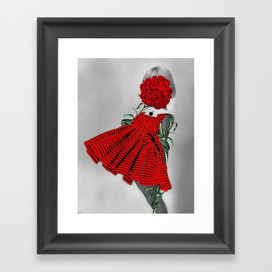 RED CARNATION Framed Art Print
