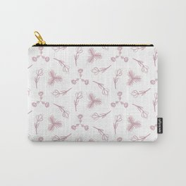 Pale pink floral garden Carry-All Pouch
