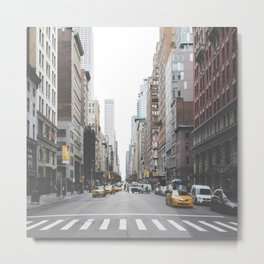 USA Photography - Street In New York City Metal Print