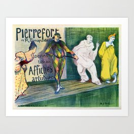 Pierrefort art gallery clowns Art Print