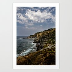 Where ocean meets land Art Print
