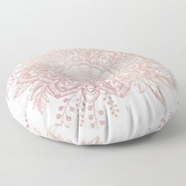 Queen Starring of Mandala-White Marble Floor Pillow