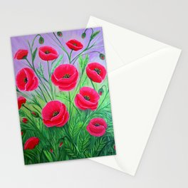 Poppies-8 Stationery Cards
