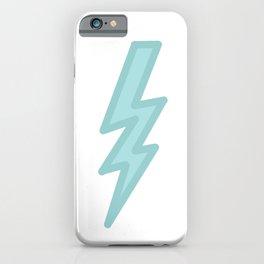 Dark Pastel Lightning (Green) iPhone Case