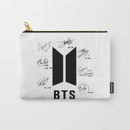 bts signatures black Carry-All Pouch