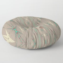 Pallid Minty Dimensions 3 Floor Pillow