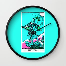 0. The Fool- Neon Dreams Tarot Wall Clock