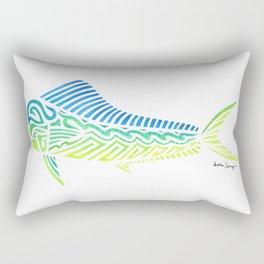 Tribal Mahi Mahi Rectangular Pillow