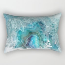 Blue Aqua Agate Rectangular Pillow