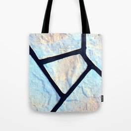 stone black line uneven ocean blue brown pattern Tote Bag