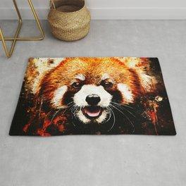 red panda portrait ws std Rug