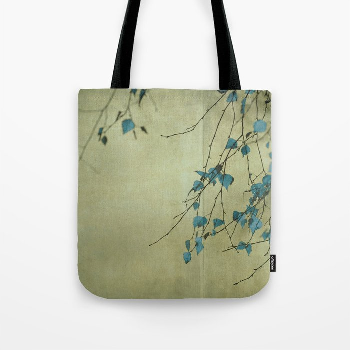 Tree in blue Tote Bag