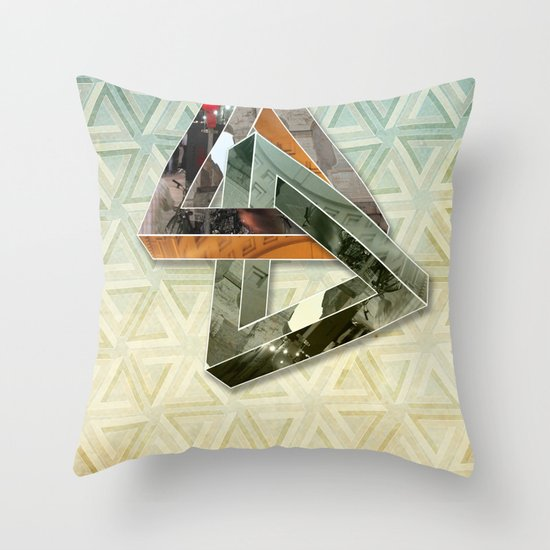 escher hitch Throw Pillow