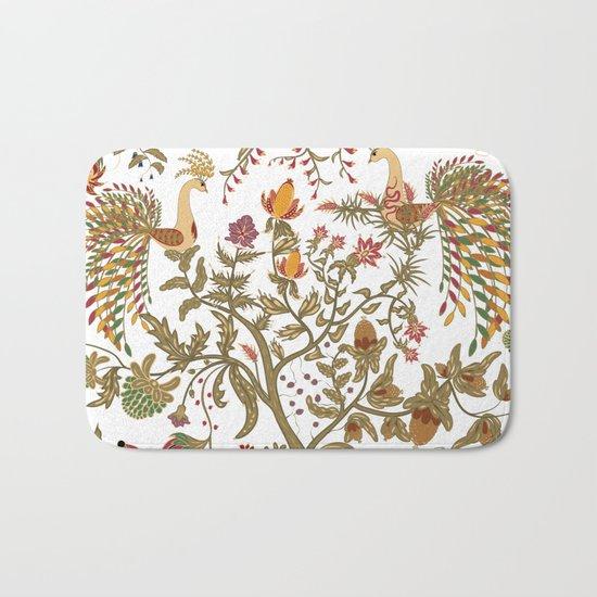 The garden of Eden. Birds. Bath Mat
