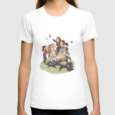 SKY PARENTS White Womens Fitted Tee X-LARGE