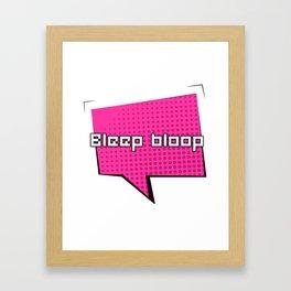 Bleep Bloop Robot Speech Bubble Design Framed Art Print