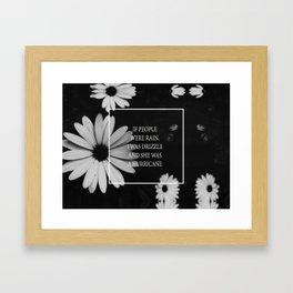 little notes : she was a hurricane Framed Art Print