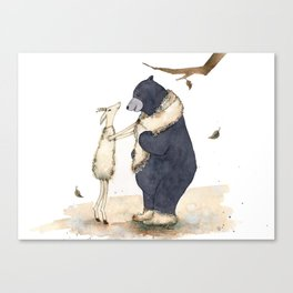 Winter gift for Bear Canvas Print