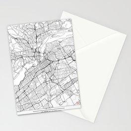 Ottawa Map White Stationery Cards