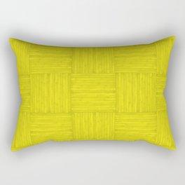 Yellow Faux Bois Wood Pattern Rectangular Pillow