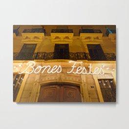 Happy Holidays (Valencia, Spain) Metal Print