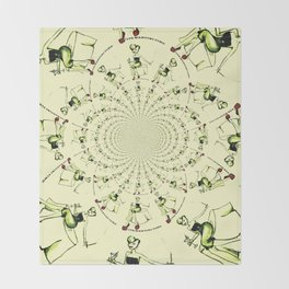 Martini Girl gets the spins Throw Blanket