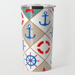 Nautical pattern . 1 Travel Mug