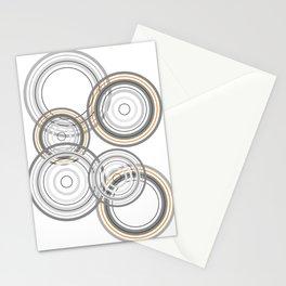 Abstract grey circle Stationery Cards