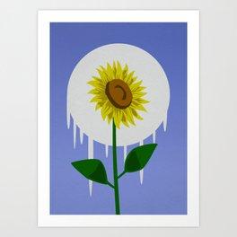 Sunflower in the Moon Art Print
