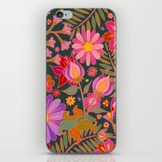 Flowers on Green iPhone & iPod Skin