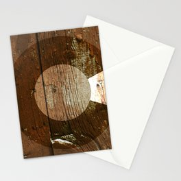 Rustic brown wooden Colorado flag Stationery Cards