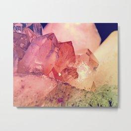 Quartz Mineral Gem Cluster Metal Print