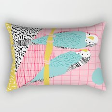 Hottie - throwback retro 1980s 80s style memphis dots bird art neon cool hipster college dorm art Rectangular Pillow